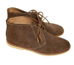 Banana Republic Desert Chukka Mens Size 10.5 Brown Suede Ankle Boots Lace Up