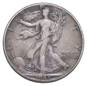 1945-D Walking Liberty 90% Silver US Half Dollar *562