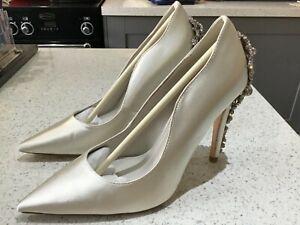 Dune beautiful diamante satin wedding shoes new