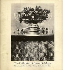 SOTHEBY'S Collection of Baron De Meyer Photographs Nijinsky Auction Catalog 1980
