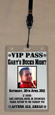 Personalised Bucks Night VIP Pass or Invitation Lanyard