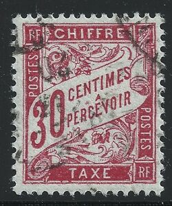 France Scott #J35, Single 1894 FVF Used