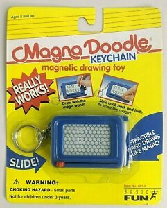 New! MAGNA DOODLE KEYCHAIN Magnetic Drawing Toy VTG 90's REALLY WORKS! Basic Fun