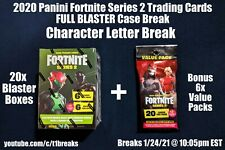 Letters [SL - STE] 2020 Panini Fortnite Series 2 BLASTER CASE BREAK 20 Box