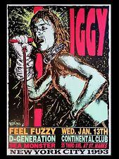 Iggy Pop New York 1993 16x12 Repro Concert Poster