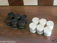 BRAND NEW HAND CRAFTED  WOODEN DRAUGHTS/CHECKERS SET1 OF 24