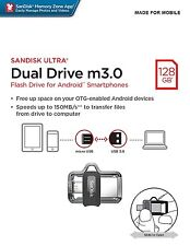 SanDisk 128GB OTG Dual Ultra USB m3.0 Micro Flash Thumb Drive Memory SDDD3-128G