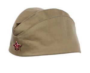 Genuine Russian Soviet USSR Red Army WW2 Military Uniform Pilotka Hat Cap Badge