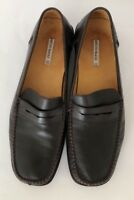 Bruno Magli PENNY LOAFERS Brown Leather Slip On Shoes Womens 10 B Made in Italy