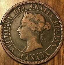1882 H CANADA LARGE CENT PENNY 1 CENT