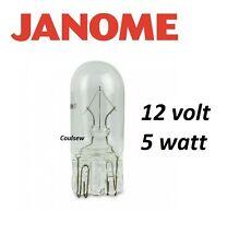 Janome wedge ampoule 12v 5w - 350e 9700 DC3050 6600P 200e 4900 5900 CXL301 +