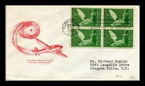 DR JIM STAMPS US AIRPLANE CACHET EVERGLADES PARK FDC COVER SCOTT 952 BLOCK