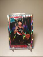 2018-19 Donruss Optic Rated Rookie Anfernee Simons Silver Shock Prizm Blazers