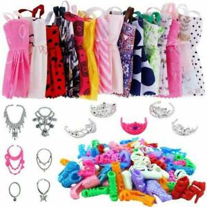 88pcs/Set for Barbie Doll Dresses, Shoes and jewellery Clothes Accessories