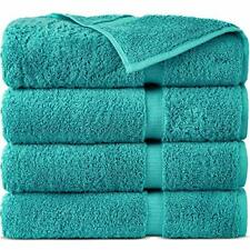 100% Turkish Cotton Luxury Hotel & Spa Towel Set Washcloths Set of 4 Many Colors