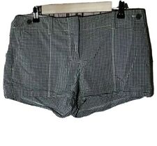 J.Crew Womens Gingham Shorts Size 8 City Fit Green Cotton