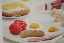Food Knitting Pattern Cooked Breakfast