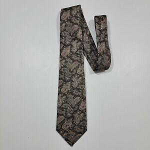 Stafford Neck Tie - Brown Paisley - All Silk - NEW