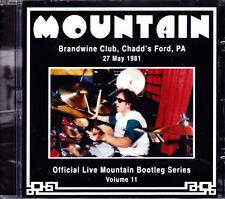 MOUNTAIN brandwine club, chadd´s ford, PA 27 may 1981 vol. 11  CD NEU OVP/Sealed