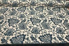 Renaissance Chenille Deep Teal Blue Italian Cut Upholstery Fabric by the yard