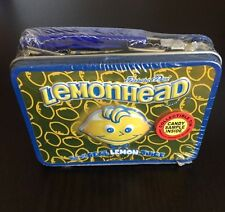 NEW -Collectible CANDY Advertising- LEMONHEAD -Mini Lunch Box Tin-SEALED VHTF
