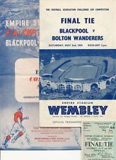 Blackpool Away Team Final Football FA Cup Fixture Programmes