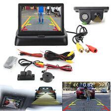 """2in1 Radar Sensor Night Vision Car Reverse Camera + 4.3"""" LCD Display Screen Kit"""