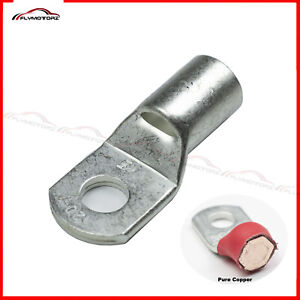 """(20) 2 Gauge 3/8"""" Stud Hole Battery Cable Ends Lugs Tinned Copper Ring Terminals"""