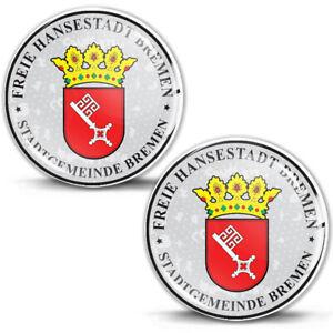 3D Gel Domed Stickers Badge Freie Hansestadt Bremen German Number Plate Seal