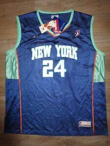 Tari Phillips #24 New York Liberty WNBA Reebok Jersey XL NEW Autograph Signed