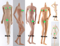 """1:6 Female Body Figure Model Medium Breast 12"""" Action Toy Non Dismantle Foot"""