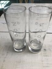 2 London Dry Gin Cocktail Collins Glass Glasses Set Pair