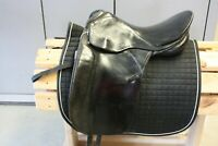 "18"" MW Beim Kloster Schontal Baron Spezial black leather dressage saddle Germany"