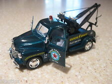 1953 CHEVROLET WRECKER TOW TRUCK BLUE 1:38 DIECAST PULLBACK ACTION