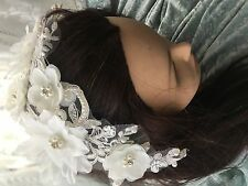 White Floral Faux Pearl Bridal/Bridesmaid Headband Wedding/Party Accessories