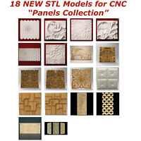 18 NEW Panels 3d STL Models for CNC Router 3d-Printer Artcam Aspire Cut3d