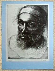 Thomas Browne Cornell Etching of Michelangelo