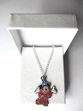 Nuevo mundo de Walt Disney Mickey Mouse hechicero Colgante Collar Chapado En Plata En