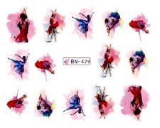 NAIL Art Decalcomanie Transfers Adesivi acquerello donna (db429)
