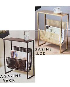 Urban Top Magazine Rack Side Table | Living Room End Table Book Storage Rack