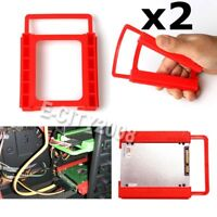 "2pcs/lot 2.5"" to 3.5"" SSD HDD Tray Bracket Hard Drive Caddy Adapter Mounting Bay"