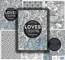 Adult Everyone Loves Patterns Coloring Book Stress Relief Relaxation Clean