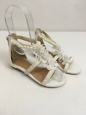 MONSOON Shoes Sandals White Beaded Pearls Size 7 Flower Girl Bridesmaid