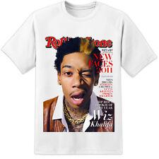 Wiz Khalifa Rolling Stone T Shirt-gran impresión!!! (S-3XL) Hip Hop Drake Trino NWA