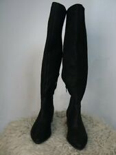 $219 Lucky Brand Black Kitrie Tall Over the Knee Leather Boots 6.5 NEW L426