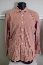 Ralph Lauren black label Orange Pinstripe Dress Shirt Size 17
