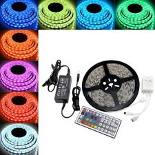 5m 300 LED RGB Remote Control Light Strip Tape Xmas Kitchen Cabinet Ceiling 12v