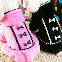 Girl Pet Dog Dress Small Winter Chihuahua Skirt Clothes Puppy Cat Apparel Coat