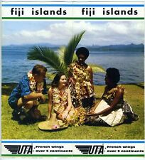 UTA French Airlines Fiji Islands Brochure Vintage 1960s Rare Printed in France
