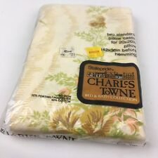 NIP NEW Sealed VTG Pillowcases Set Pair Charles Towne NOS Retro Floral 50 50
